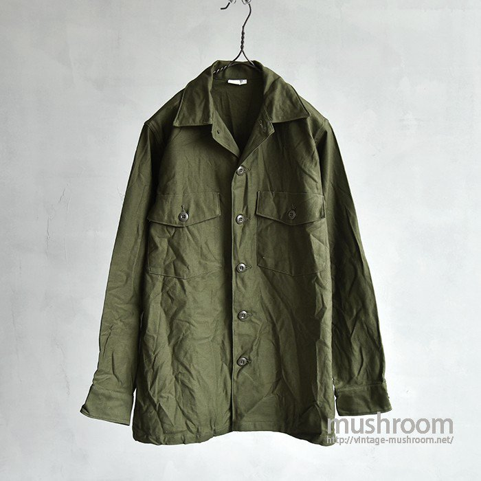 U.S.ARMY COTTON SATIN UTILITY SHIRT( 14H/DEADSTOCK )