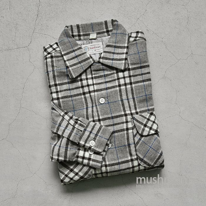 TOWNCRAFT PLAID BOX SHIRT( M/ALMOST DEADSTOCK )
