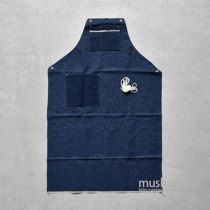 OLD TWO-TONE DENIM WORK APRON( DEADSTOCK )
