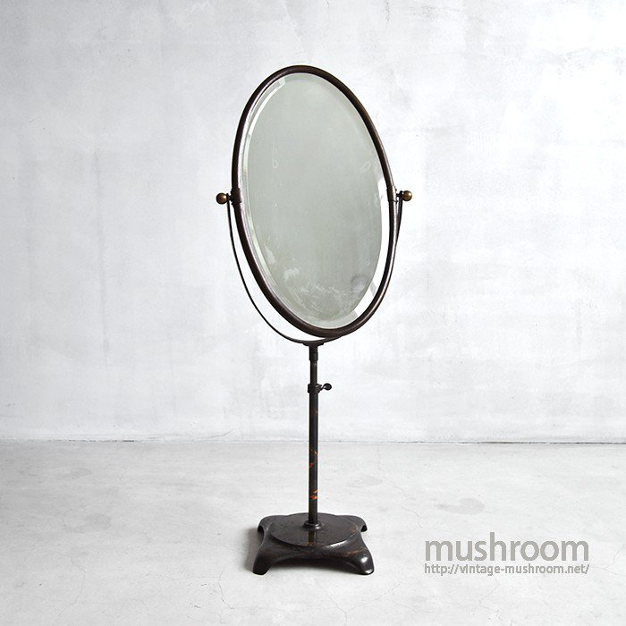 TABLE TOP JAPANNED STAND MIRROR