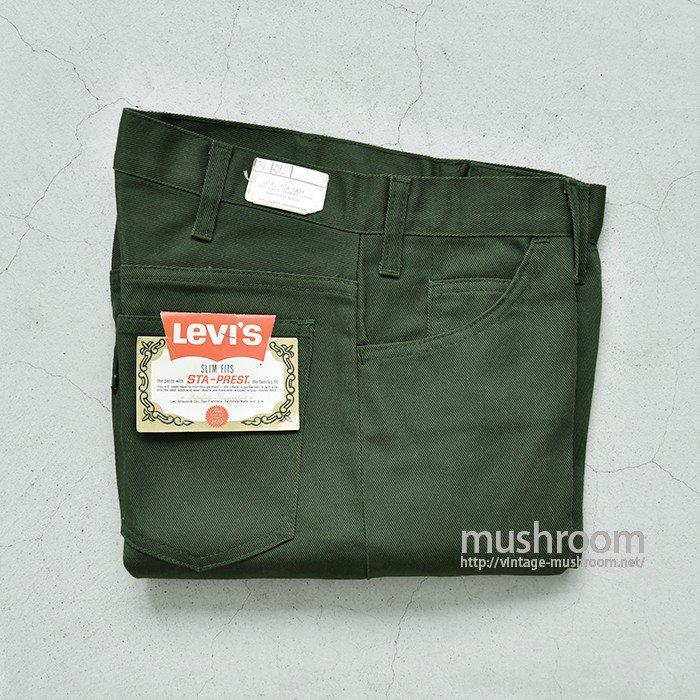 LEVI'S 518E SLIM FITS PANTS( W30L29/DEADSTOCK )