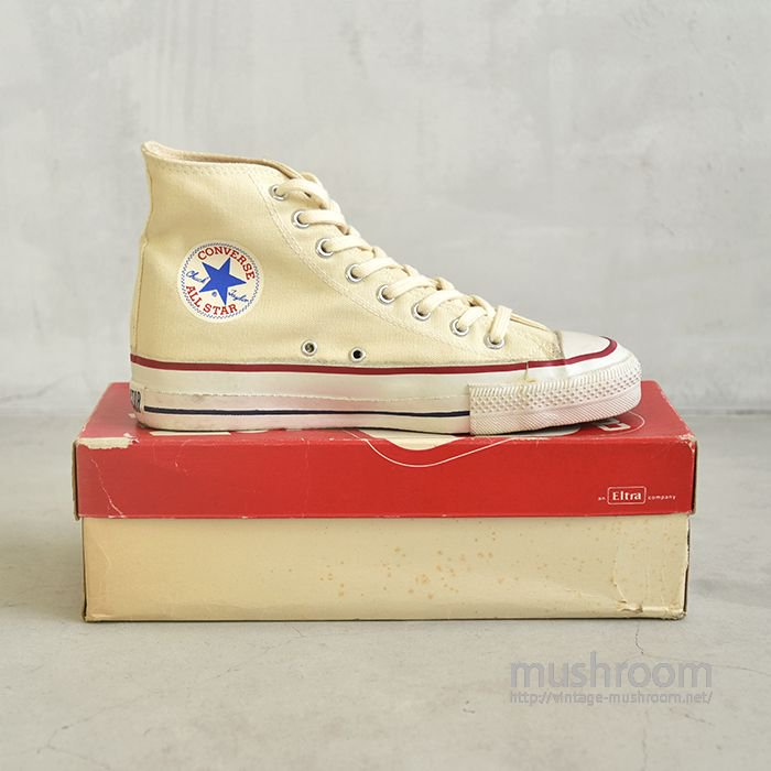 CONVERSE ALL-STAR HI  CANVAS SHOES( 8/ALMOST DEADSTOCK )