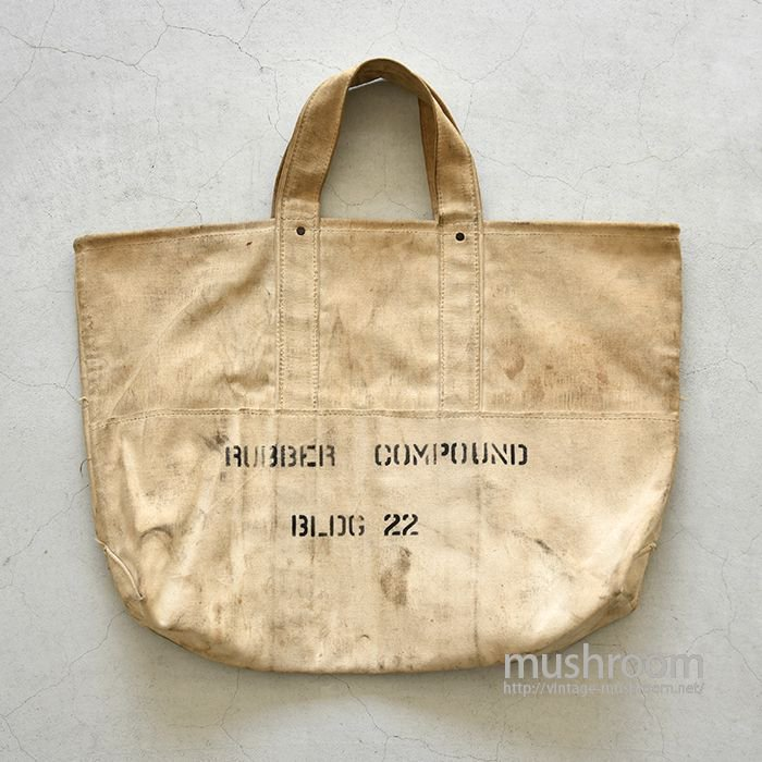 OLD CANVAS BAG WITH STENCIL
