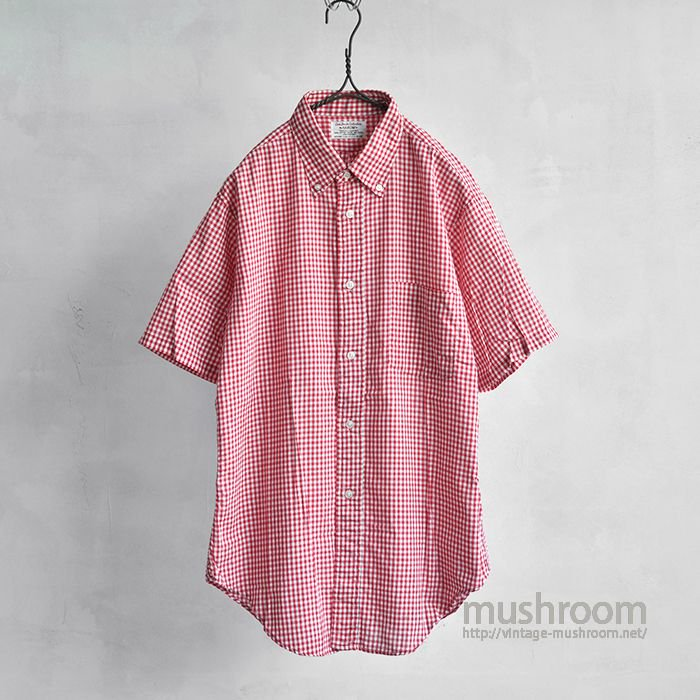 ARROW GINGHAM CHECK S/S COTTON BD SHIRT( M/ALMOST DEADSTOCK )