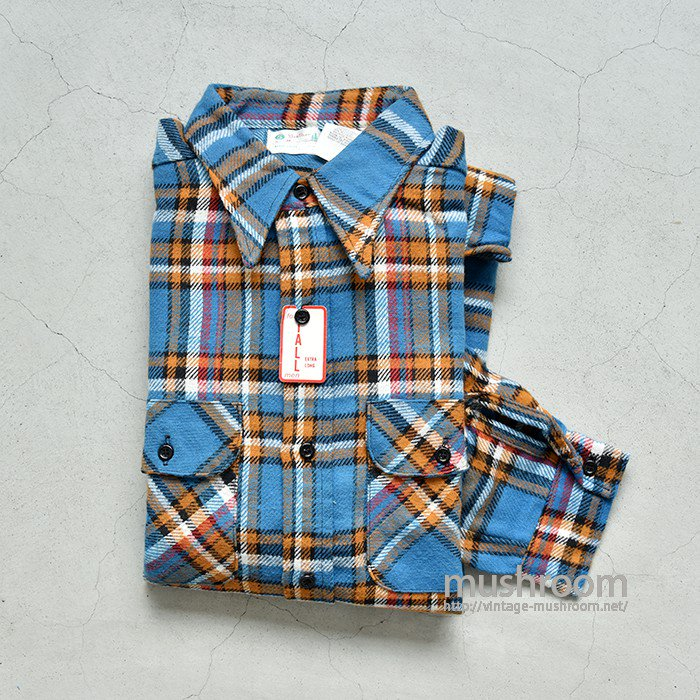 5BROTHER PLAID FLANNEL SHIRT(XL/DEADSTOCK)
