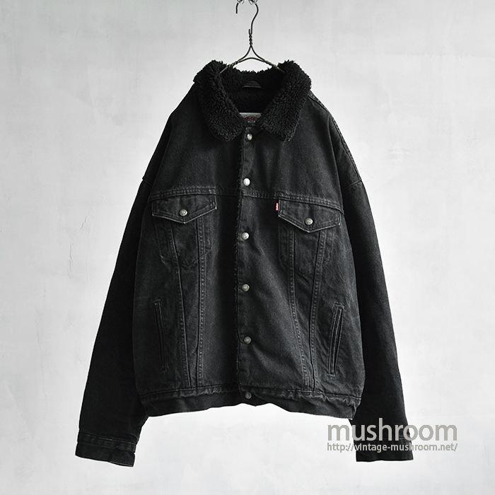 LEVI'S BLACK DENIM BOA JACKET(XL)