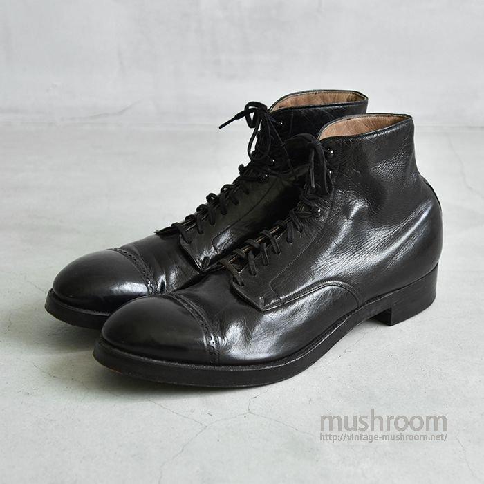 1920's OLD BLACK DRESS SHOES(MINT)