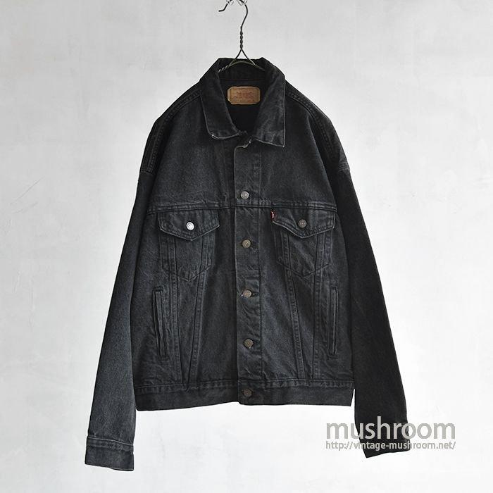 LEVI'S BLACK DENIM JACKET(XL)