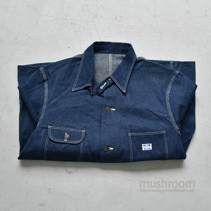 MW PIONEER DENIM COVERALL WITH CHINSTRAP(44/DEADSTOCK)
