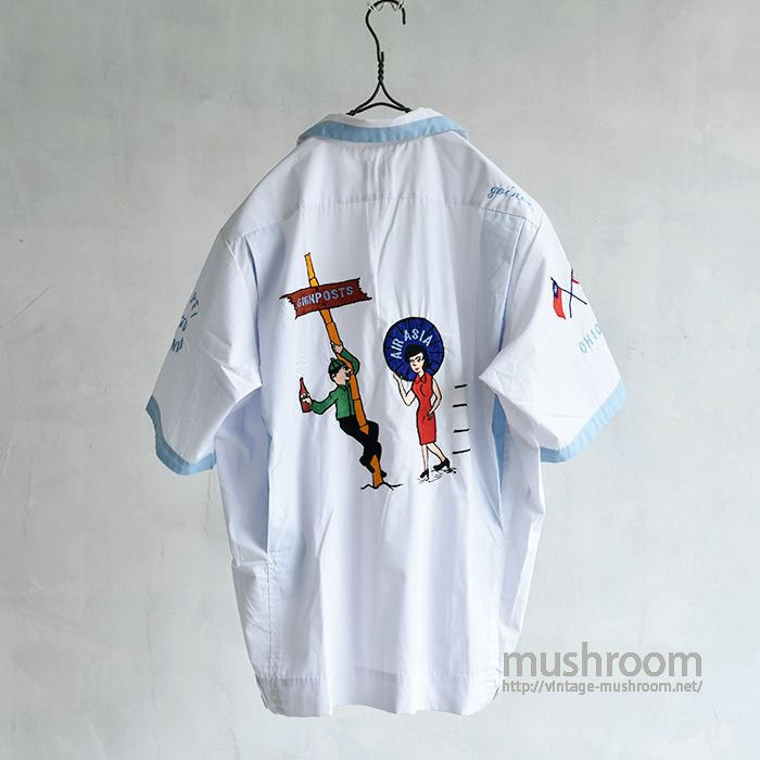 OLD EMBROIDERY BOWLING SHIRT