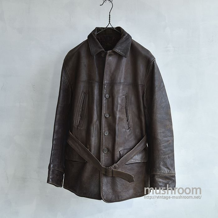 OLD FOUR POCKET SINGLE BREASTED HORSEHIDE CAR COAT(BROWN)
