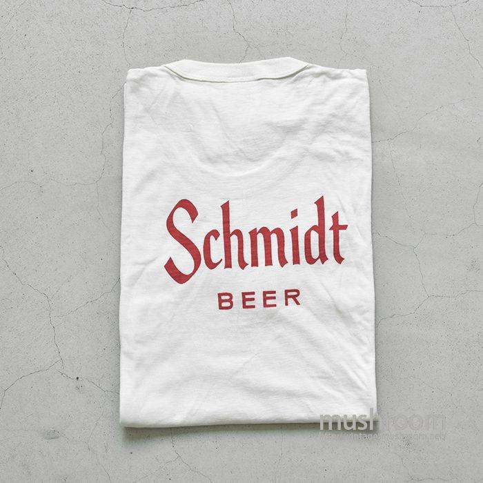 SCHMIDT BEER POCKET T-SHIRT(L/DEADSTOCK)