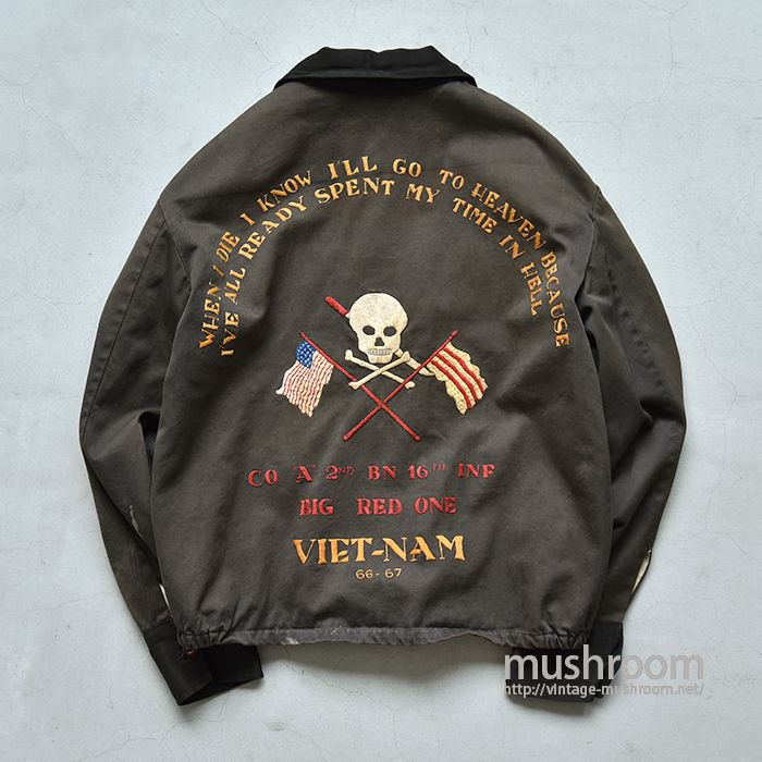 OLD TWO-TONE VIET-NAM TOUR JACKET(SKULL EMBROIDERY)