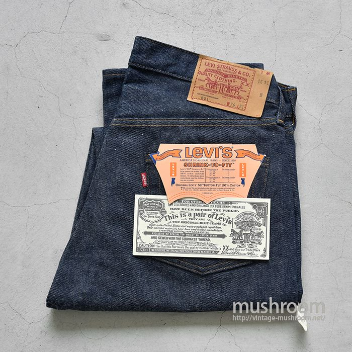 LEVI'S 501 RED LINE JEANS( W34L31/DEADSTOCK )