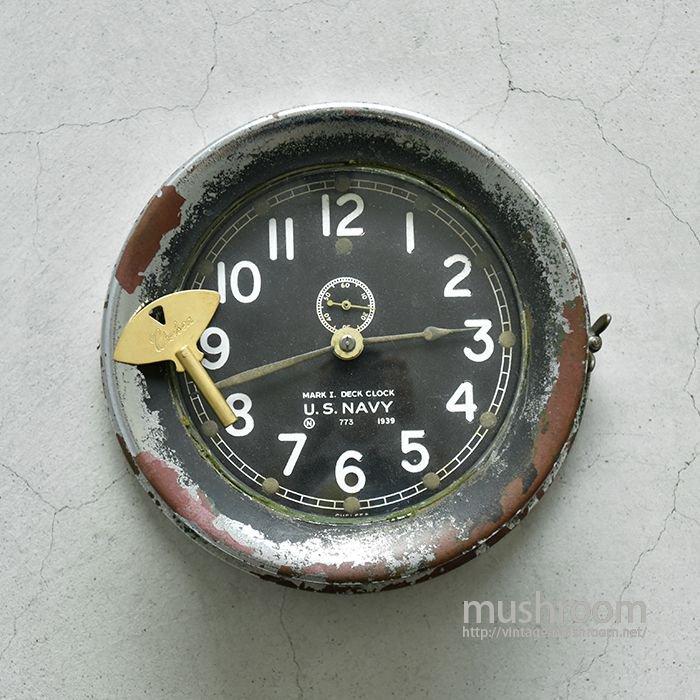U.S.N MARK1CHROMED BRASS DECK CLOCK