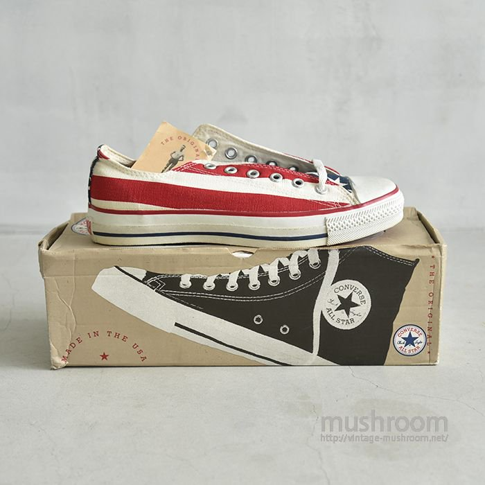 CONVERSE ALL-STAR LO CANVAS SHOES( USA FLAG/DEADSTOCK )