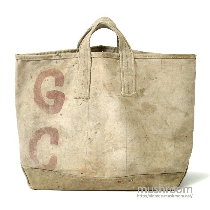 OLD TWO-TONE CANVAS COAL BAG