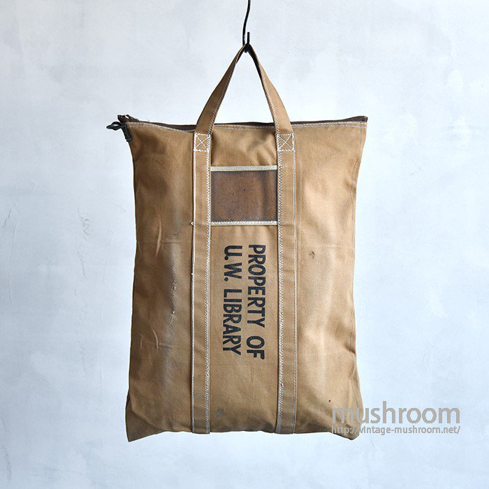 OLD CANVAS TOTE BAG(PROPERTY OF U.W.LIBRALY)