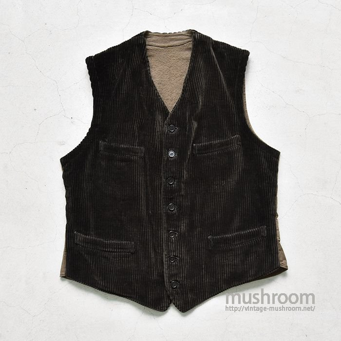 OLD FRENCH CORDUROY WORK VEST(MINT)
