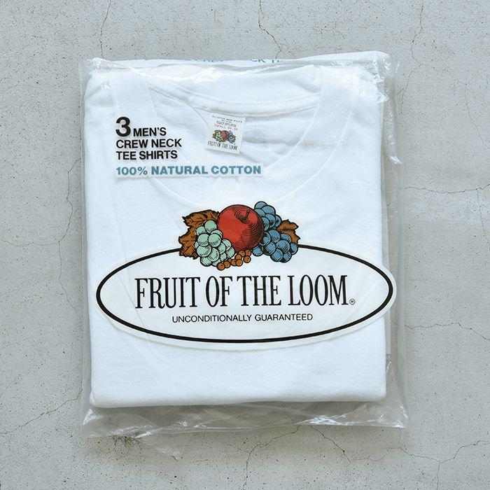 FRUIT OF THE LOOM PLAIN 3PACK T-SHIRT(S/DEADSTOCK )