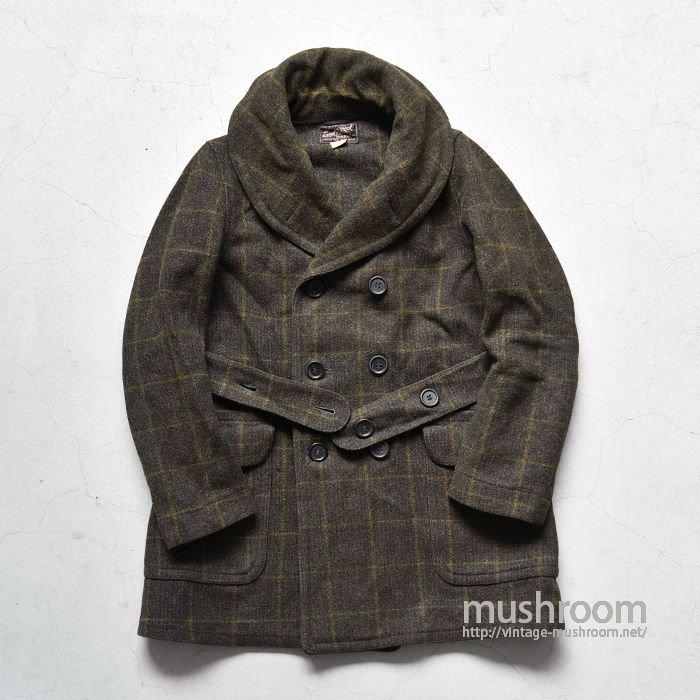 OLD PLAID BLANKET MACKINAW COAT