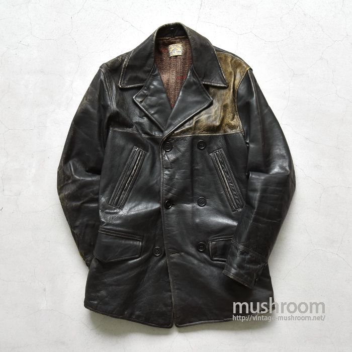 OLD TWO TONE DOUBLE BREASTED CAR COAT