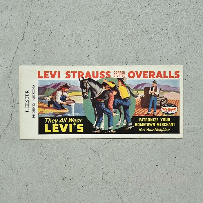 1930' LEVI'S INK BLOTTERS