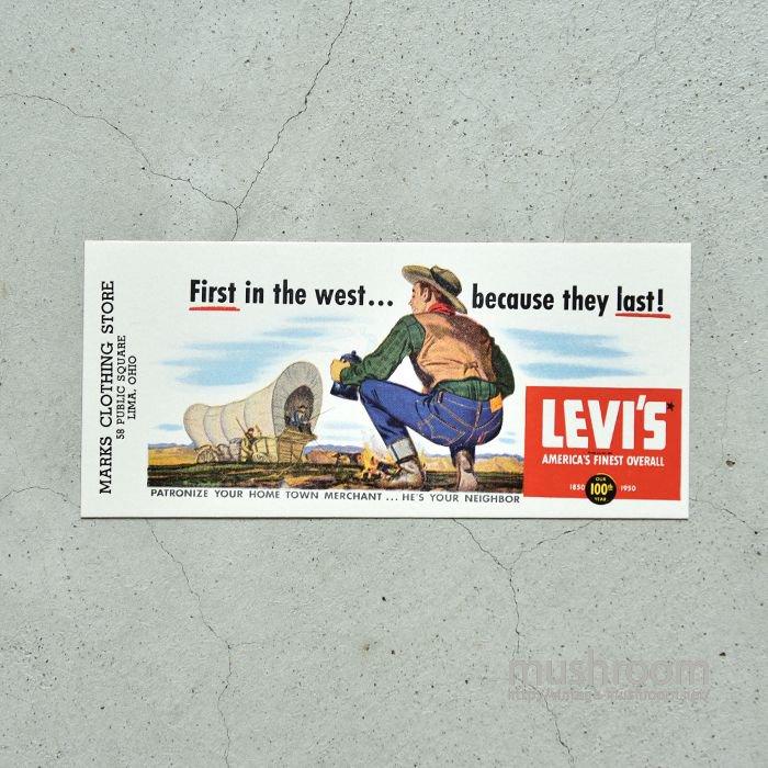 LEVI'S INK BLOTTERS(100th ANNIVERSARY)