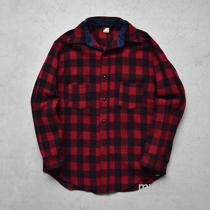 OLD PLAID WOOL SHIRT(16/DEADSTOCK/2)