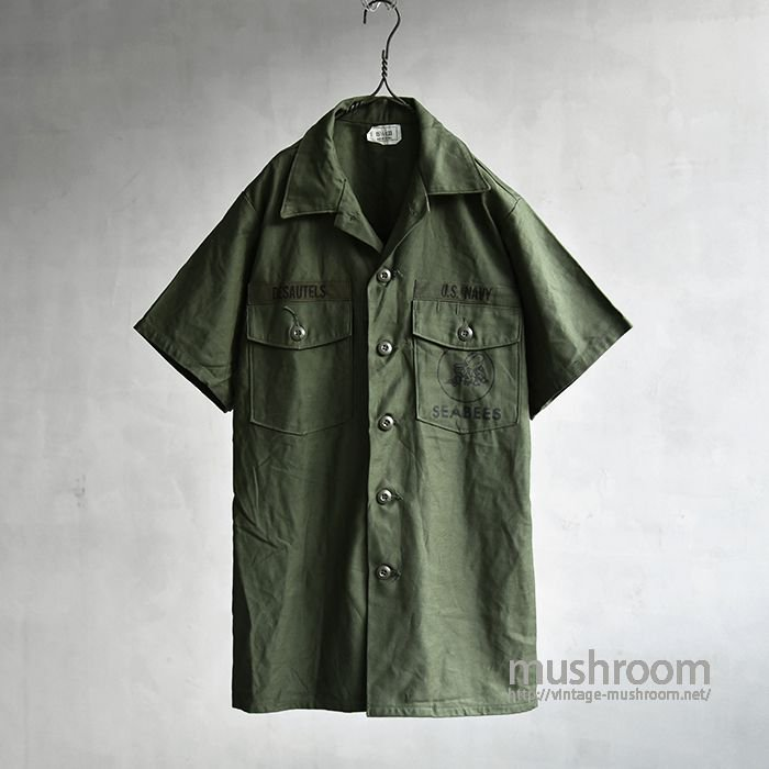 SEABEES S/S UTILITY COTTON SHIRT(15H/DEADSTOCK)