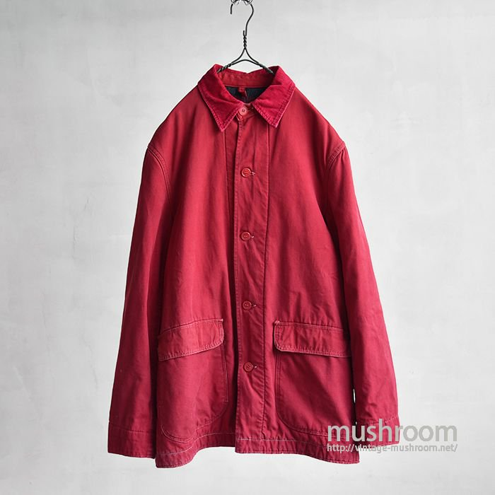 HERCULES RED CANVAS COVERALL