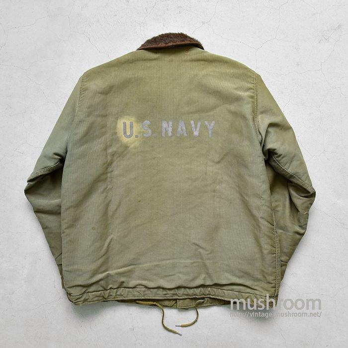 U.S.NAVY N-1 DECK JACKET WITH STENCIL