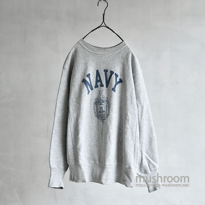 CHAMPION NAVY REVERSE WEAVE(M/ONE-COLOR TAG)