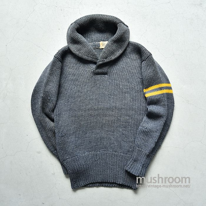 CULVER MILITARY SHAWLCOLLER SWEATER