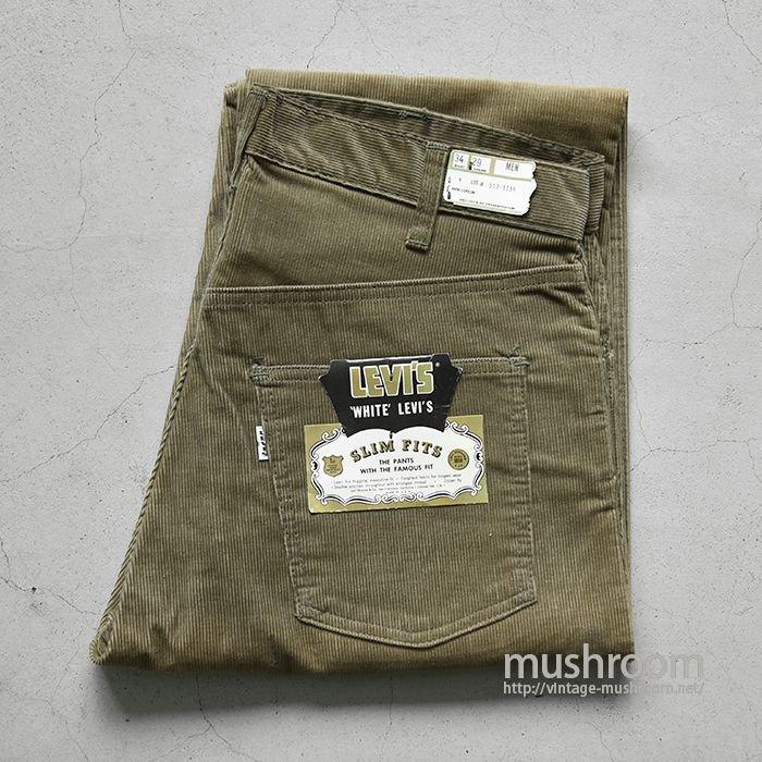 LEVI'S 518E SLIM FITS CORDUROY PANTS( W34/L29/DEADSTOCK )
