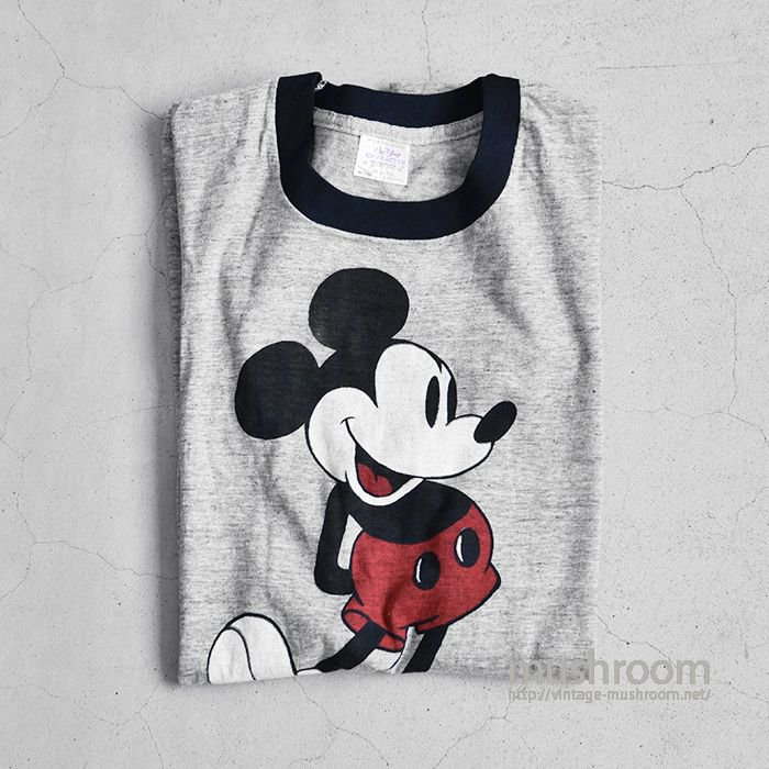 OLD MICKY MOUSE RINGER T-SHIRT(ALMOST DEADSTOCK)