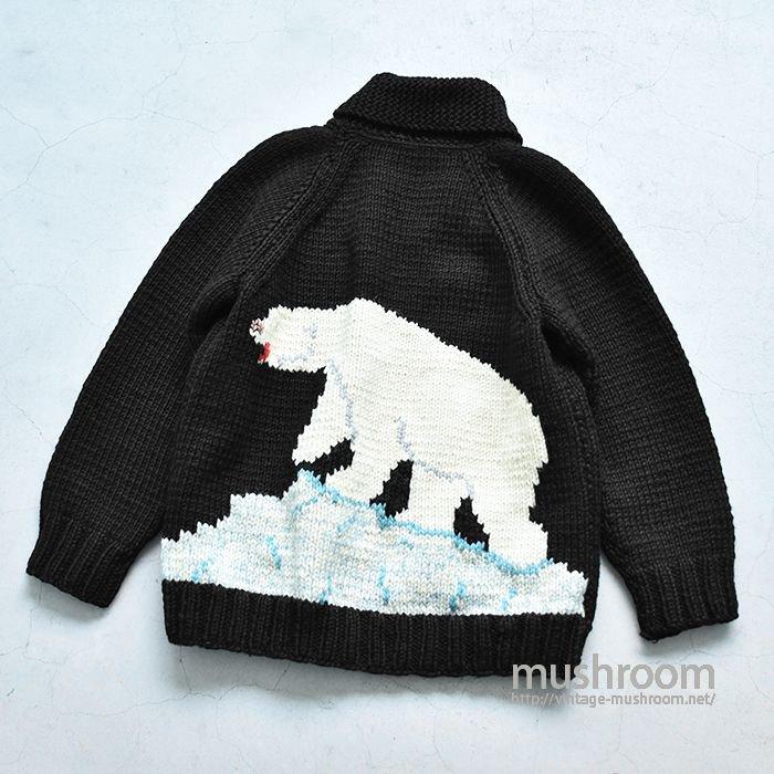 POLAR BEAR COWICHAN WOOL JACKET(BLACK)