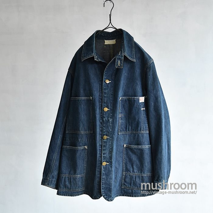 SEARS NATIONALL DENIM COVERALL WITH CHINSTRAP