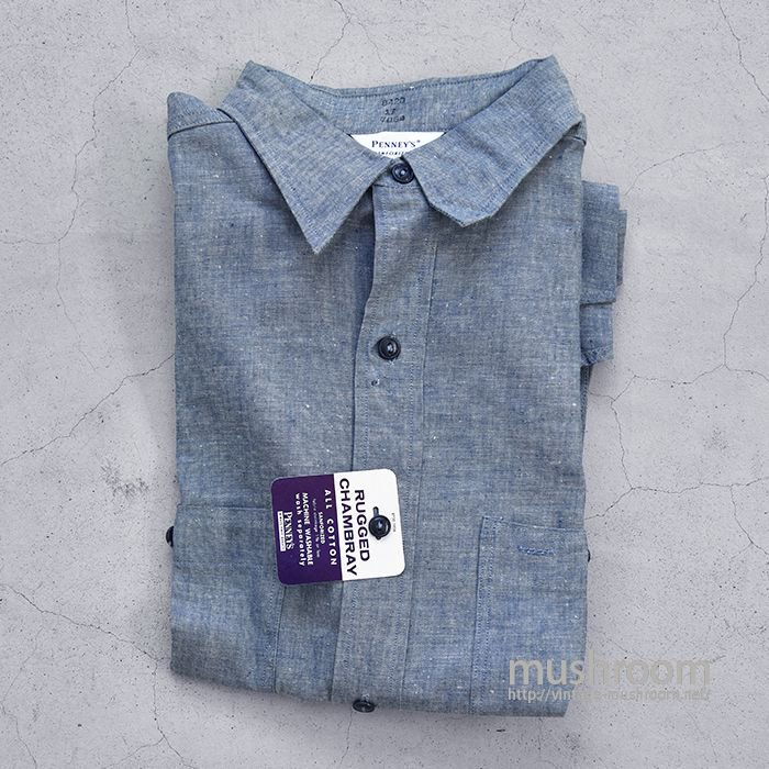 PENNEY'S CHAMBRAY WORK SHIRT(17/DEADSTOCK)