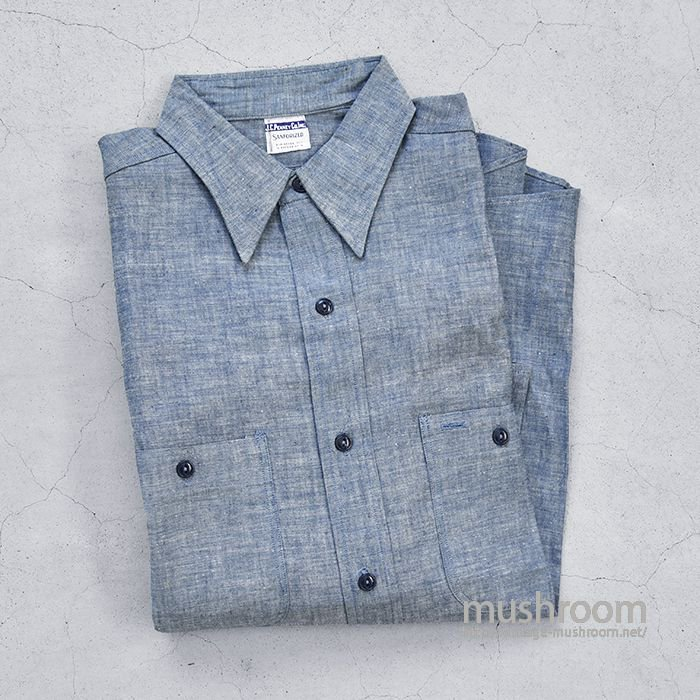 J.C.PENNEY.CO.INC CHAMBRAY WORK SHIRT(DEADSTOCK)