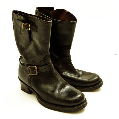 OLD HORSE HIDE ENGINEER BOOTS