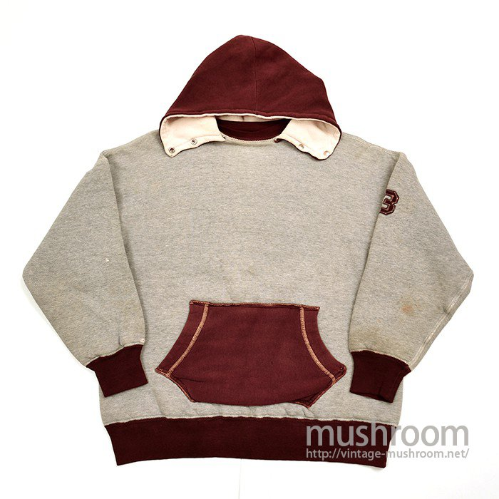 DOUBLE FACE TWO TONE SWEAT With AFTER HOODY