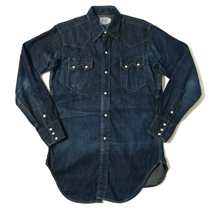 LEVIS SHORTHORN DENIM WESTERN SHIRT