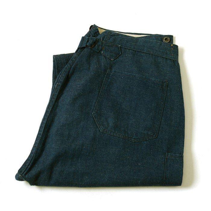 OLD DENIM WAIST-OVERALLS