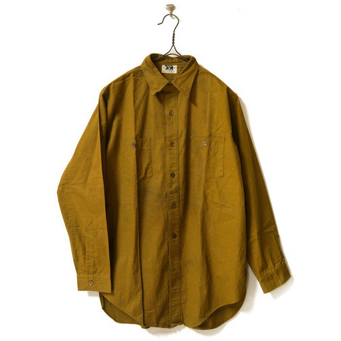 BLACK BEAR BROWN COTTON WORK SHIRT With CHINSTRAP(DEADSTOCK)