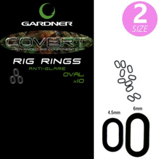 COVERT RIG RINGS  OVAL ANTI GLARE  4.5mm / 6mm