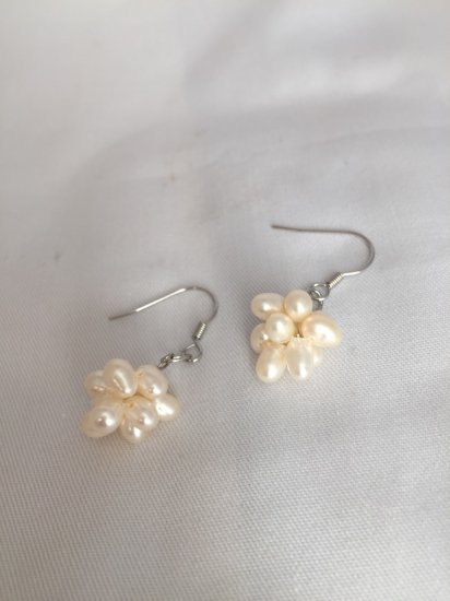 fresh pearl ball ピアス