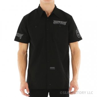 <img class='new_mark_img1' src='https://img.shop-pro.jp/img/new/icons42.gif' style='border:none;display:inline;margin:0px;padding:0px;width:auto;' />JETPILOT COLLECTIVE MENS WORKSHIRT(ブラック・Mサイズ)