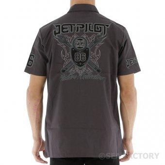 【半額SALE】JETPILOT コレクティブ メンズ ワークシャツ(チャコール)