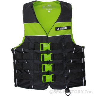 <img class='new_mark_img1' src='https://img.shop-pro.jp/img/new/icons5.gif' style='border:none;display:inline;margin:0px;padding:0px;width:auto;' />JETPILOT 2018 STRIKE 4-BUCKLE NYLON VEST(ブラック/グリーン)
